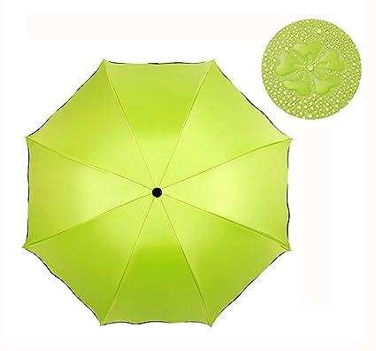 Ai-life Plegable Agua Activada Magic Oculto Floral Cúpula Sombrilla Sun / paraguas plegable de