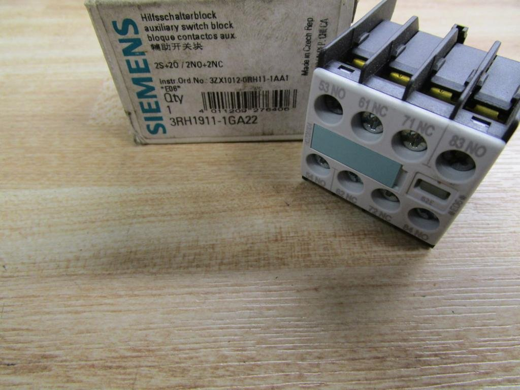 Siemens 3RH1911-1GA22 Hilfsschalter Hilfsschalterblock 4 polig 2NO+2NC NEU