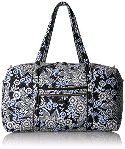 (Vera Bradley Women's Iconic Large Travel Duffel-Signature, Snow Lotus, One Size)
