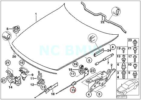 Amazon Com Bmw Genuine Engine Hood Mechanism Automotive