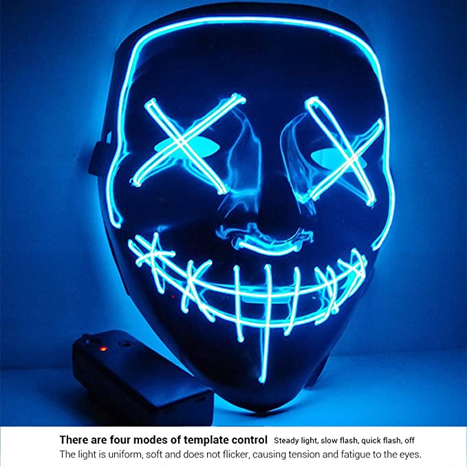 AimdonR Máscara de Halloween, Máscara de purga de luz LED, Festival de Cosplay, Disfraz de Halloween: Amazon.es: Bricolaje y herramientas