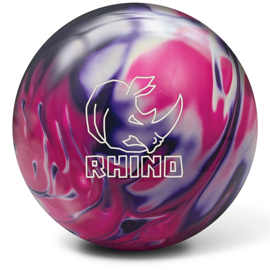 Brunswick Rhino Bowling Ball, Purple/Pink/White Pearl, 14 lb by Brunswick