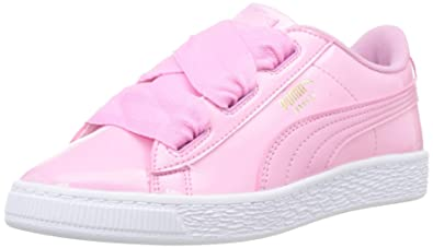 7e1e921a Amazon.com | PUMA Basket Heart Patent Prism Toddler Trainers | Sneakers