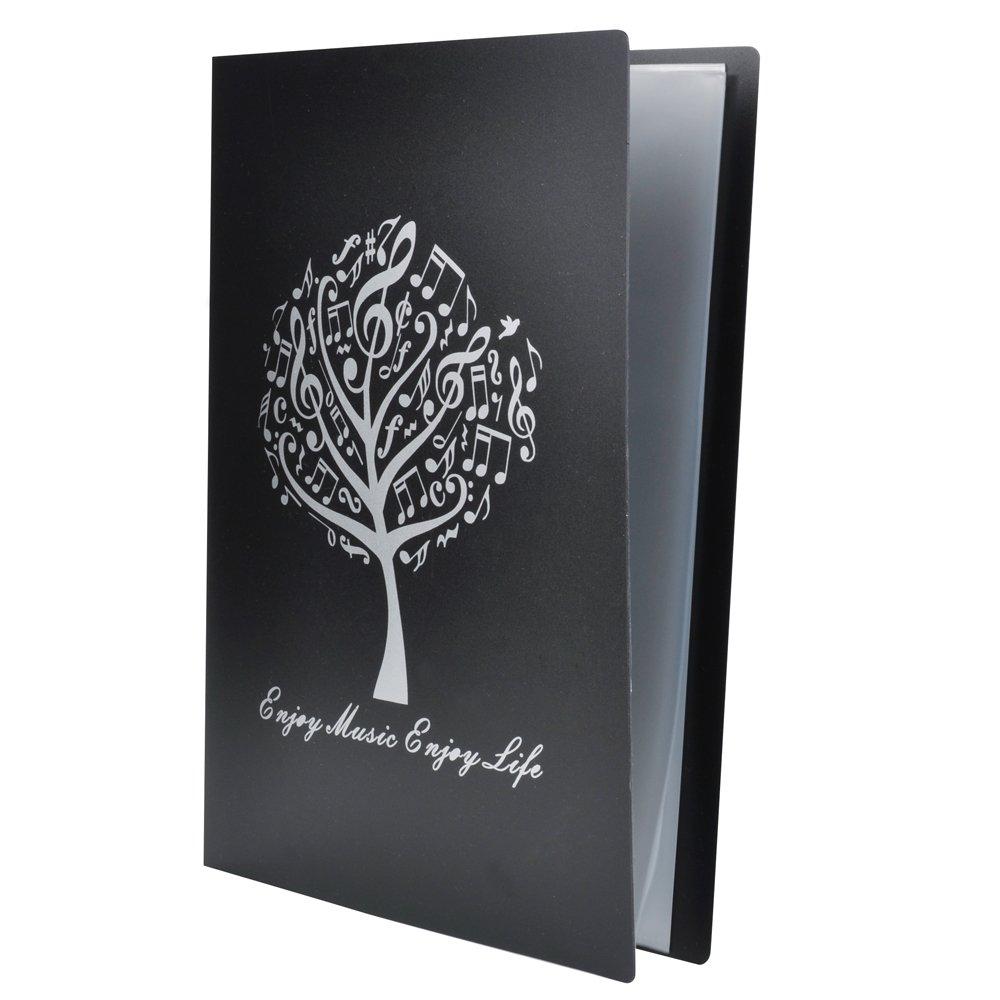 Punk cartella per spartiti cartelletta porta documenti formato A4Formato A4, 40tasche Nero Music Tree Black 10803216