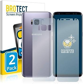 BROTECT Protector Pantalla Anti-Reflejos Compatible con Samsung Galaxy S8 (Frontal + Trasera) (2 Unidades) Pelicula Mate Anti-Huellas: Amazon.es: Electrónica