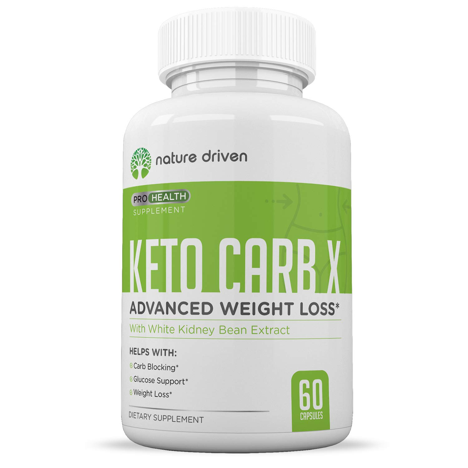 Keto Carb Blocker for Weight Loss - Keto Diet Pills - Appetite Suppressant for Men & Women - Lose Belly Fat - Boost Metabolism - Starch Blocker - 60ct by Nature Driven
