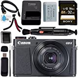 Canon PowerShot G9 X Mark II Digital Camera (Black) 1717C001 + Sony 32GB SDHC Card + Deluxe Cleaning Kit + Memory Card Wallet + Card Reader + Micro HDMI Cable + Lens Pen Cleaner + Tripod Bundle