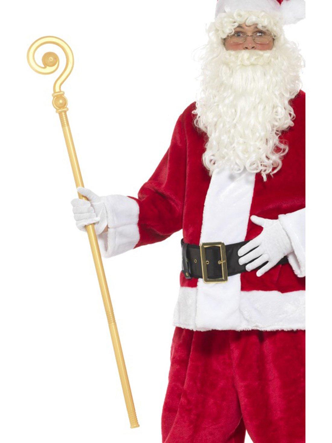 Fancy Ole–Noël Costume de saint nicolas Accessoire tige de Évêque krümme, 118cm, Doré