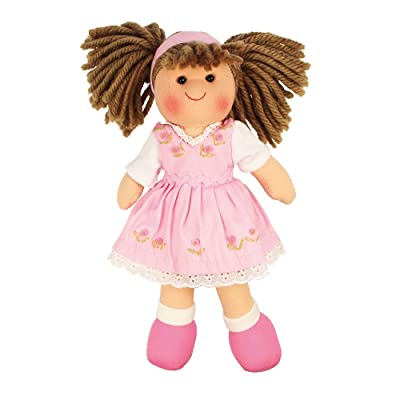 "Bigjigs Toys Rose 11"" Doll - Ragdoll Cuddly Toy: Toys & Games"
