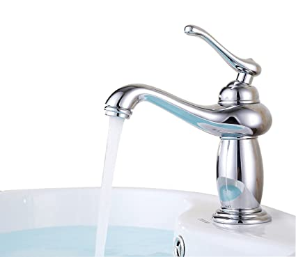 ELLO&ALLO Bathroom Faucet Modern One Hole Single Handle Vanity Sink ...