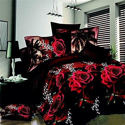 Bazaar 4pcs satisfacen la fibra de poliester 3ra rosa roja ...