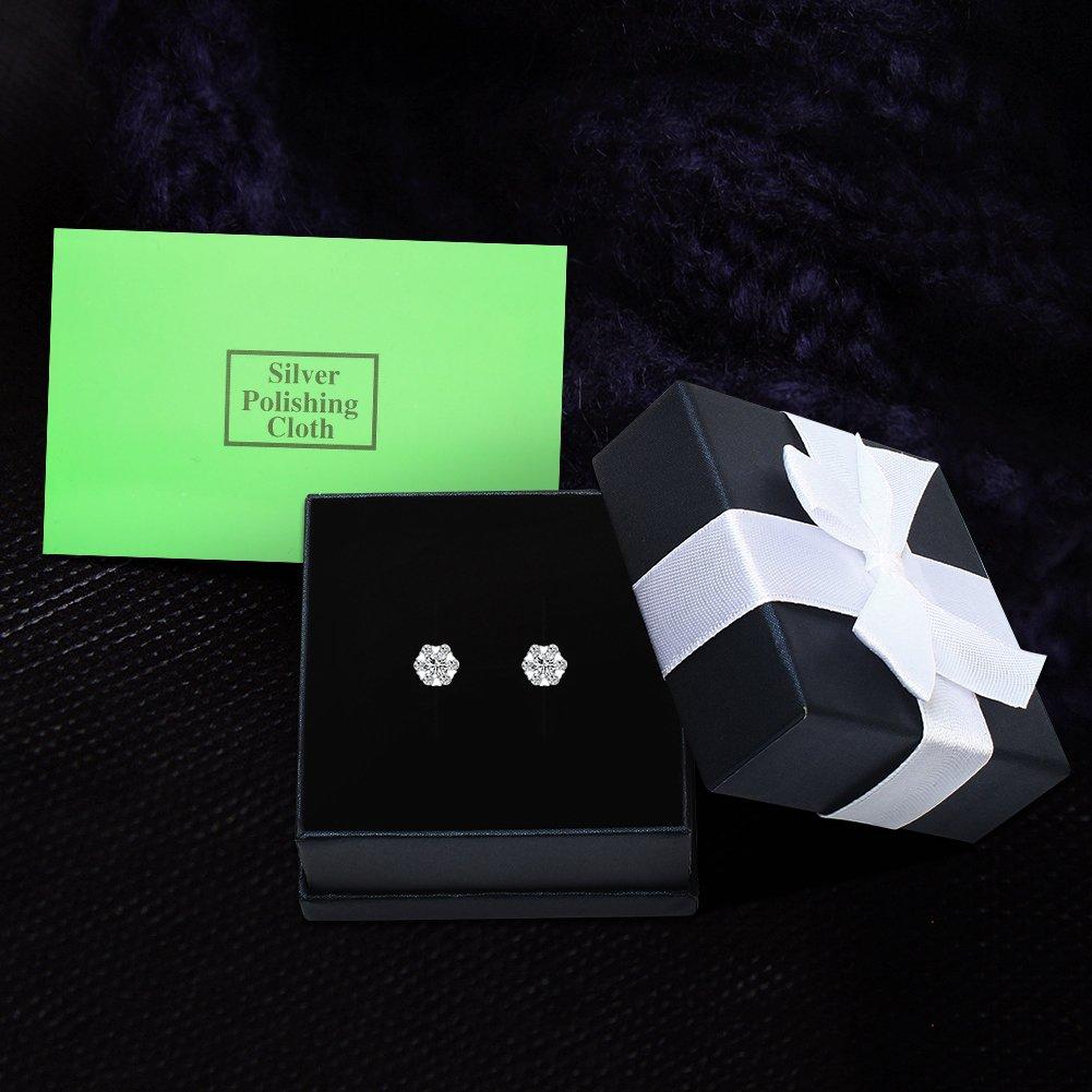 Cubic Zirconia Stud Earrings LIKGUS Sterling Silver Nickel Free Hypoallergenic Earrings for Women
