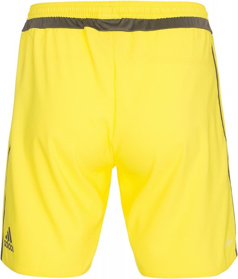 adidas Short GK Pantalon de Gardien de But JauneMarron