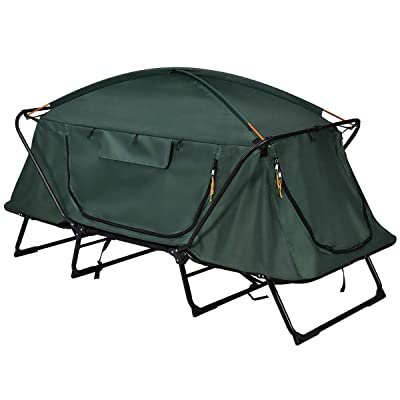 RT 1 Person Folding Single Raised Mat Bed Cot Waterproof Bag Camping Tent Accessories: Garden & Outdoor