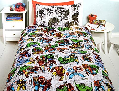 Disney x Tesco Kids Single Duvet Cover and Pillowcase Set The Avengers