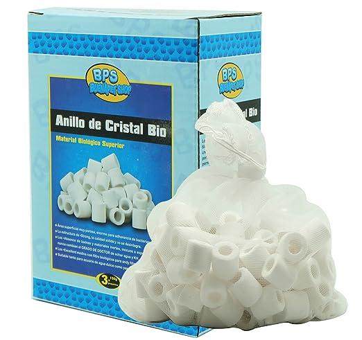 BPS (R) Anillos de Cristal Bio Anillos de Cerámica Filtro Filtrante Acuario Depurador 450g BPS-6640: Amazon.es: Industria, empresas y ciencia