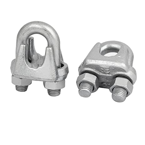 Amazon.com: uxcell 22mm Metal Wire Cable Rope Clips Saddle Clamps ...