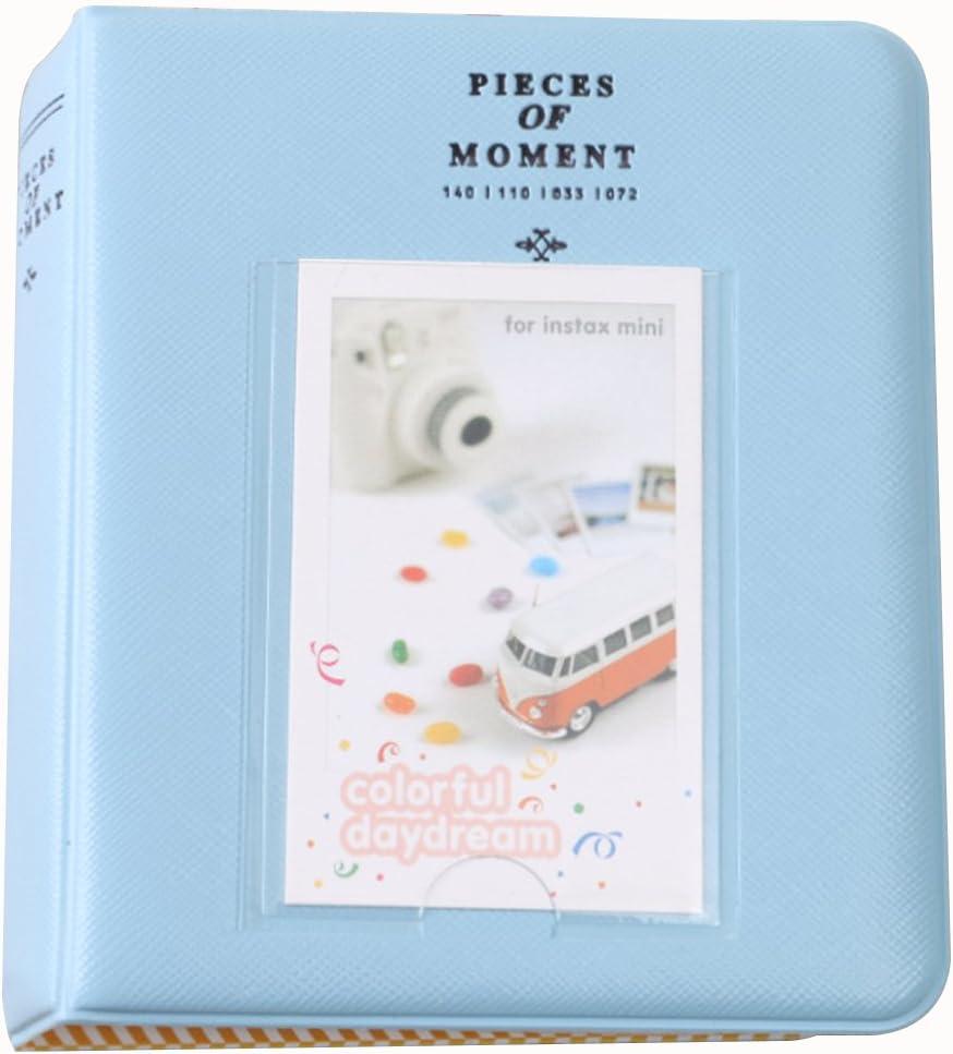 Fashion/Life 64 Pockets Photo Album Mini Instant Picture Storage Case Pink