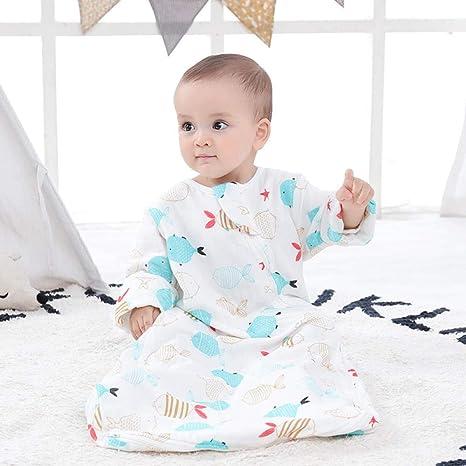 Saco de dormir para bebé unisex 0-12 meses verano delgado gusano de seda capullo suave algodón edredón antideslizante ropa de escalada artefacto cálido otoño pijamas para niños: Amazon.es: Bebé