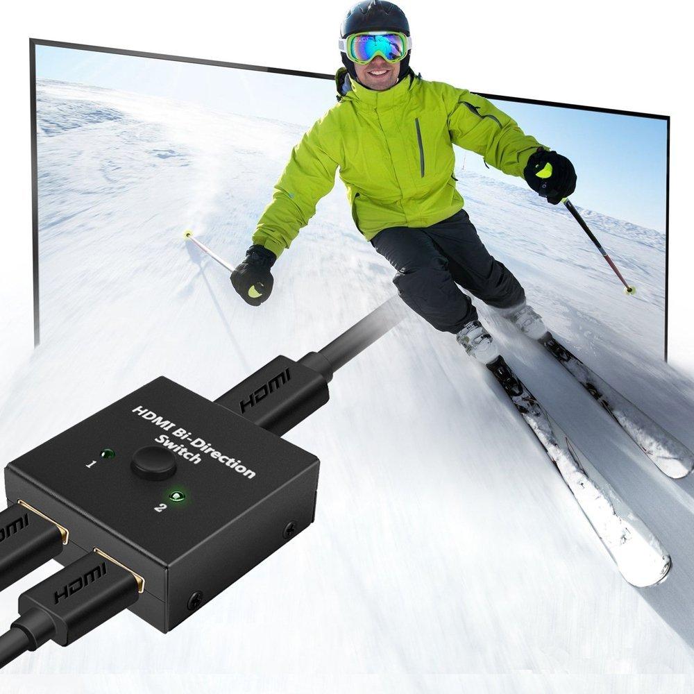 HDMI Switch Bi-direction HDMI Splitter 4K Umschalter 1080P 3D NIERBO HDMI Bidirektionale 2 In 1 oder Switcher oder 1 in 2 out PS4 PS3 Xbox Nintendo Schalter