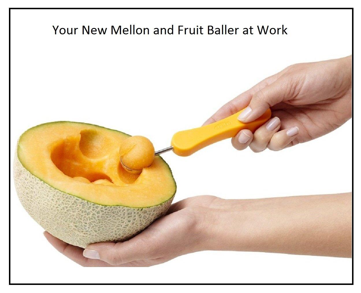 3 in1 Melon Baller Scoops Ice Cream Spoon Fruit Peeler New Best Mellon Baller and Fruit Scoop