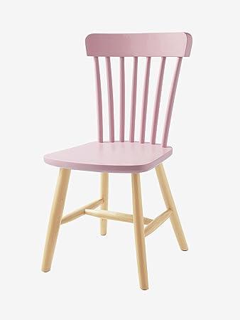 Vertbaudet Holzstuhl Für Kinder Sitzhöhe 45 Cm Rosa Amazon