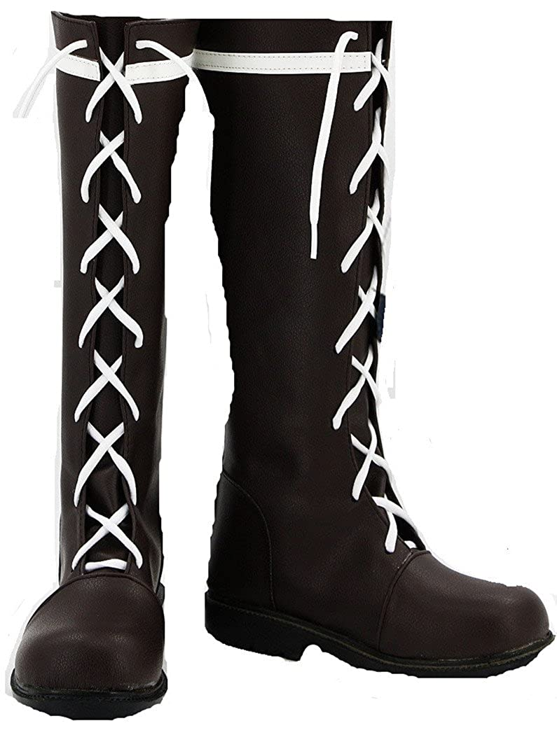 Black Butler Kuroshitsuji Undertaker Cosplay Costume Boots Boot Shoes Shoe UK