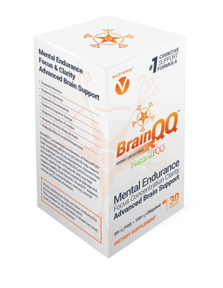 BrainQQ Get SMART! Enhanced HIGH Absorption Nootropic Brain Formula-Concentration, Focus, Clarity & Memory Peak Performance. 100mg of Ubiquinol (QH) plus Natural PQQ 20mg
