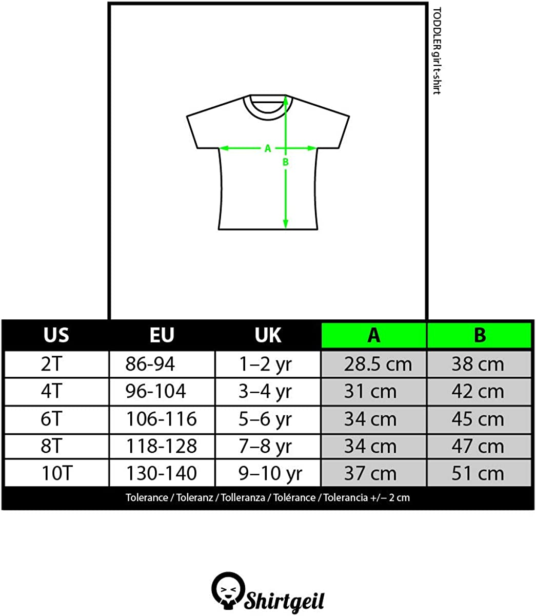 Maglia Italia Bandiera Italiana Stile Vintage T-Shirt Maglietta Bambina