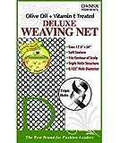 (PACK OF 12) DONNA OLIVE OIL + VITAMIN E TREATED DELUXE WEAVING NET #22204 BLACK