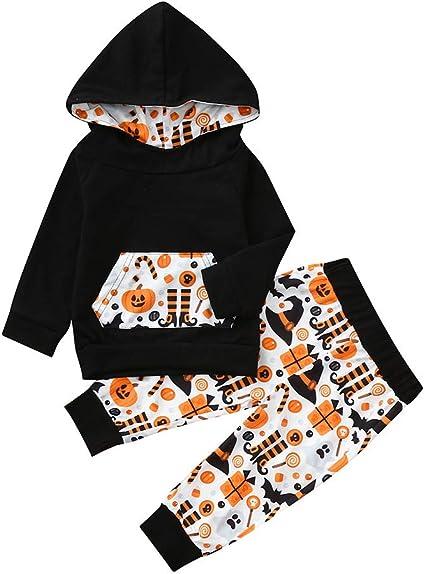NWT Toddler 2 piece Halloween Themed  Pajamas Unisex Pumpkin Orange