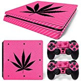ModFreakz® Console/Controller Vinyl Skin Set – Pink Weed Leaf for PS4 Slim Review