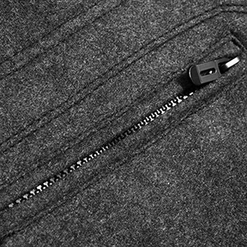 Da Uomo Caldo Colore Giacca Comode Colletto Cappotto Grau Cotone Invernale Taglie Trench Parka Abiti nwRSHqBR