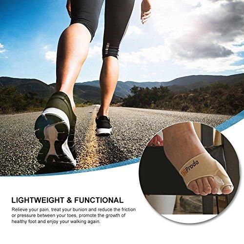 eProda Bunion Corrector - Orthopedic Foot Pain Relief Sleeves Kit with Massage Ball Bunion Splint & 3 Pairs Toe Separators Spacers for Men & Women - Stop Plantar Fasciitis Hammer Toes Hallux Valgus by eProda (Image #5)