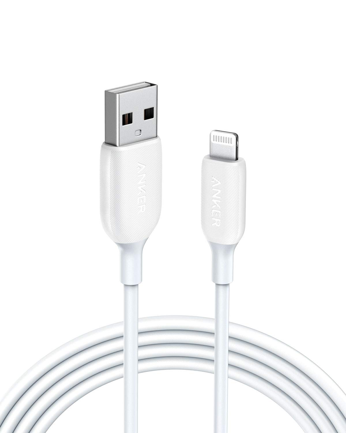 iPhone Charger, Anker Powerline III Lightning Cable 6 Foot iPhone Charger Cord MFi Certified for iPhone 11 Pro Max, 11 Pro, X, Xs, Xr, Xs Max, 8, 8 Plus, 7, 7 Plus, 6 and More, Ultra Durable (White)