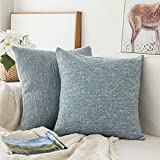 MIULEE Pack of 2, Decoration Linen Burlap Decor Square Throw Cushion Cover Cushion Case for Living Room Sofa Bedroom Car 18 x 18 Inch 45 x 45 cm
