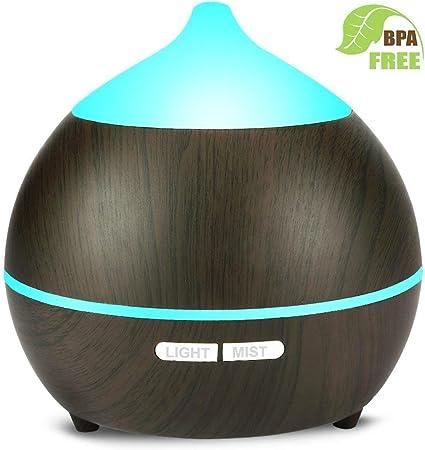 Yoga Massaggio Casa Diffusore di Aromi,avaspot 250 ml ultrasonico aromatico grana di legno umidificatore d aria nebbia fresca aroma diffusore di profumo elettrico con 7-couleurs cangianti per Spa