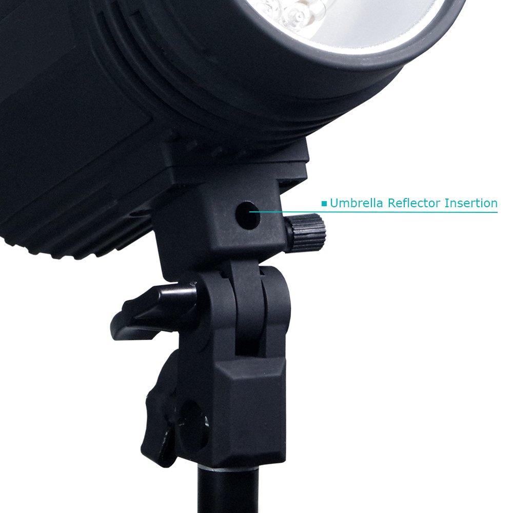 200 Watt Studio Flash/Strobe Light, Fuse, Test Button, Wireless Triggering Available, Umbrella Input, Mount on Light Stand, Professional Photography Use, Photo Studio, AGG2044 by LimoStudio (Image #5)