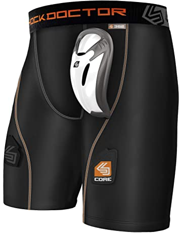 79614092b Shock Doctor Core Compression Hockey Shorts with Bio-Flex Cup