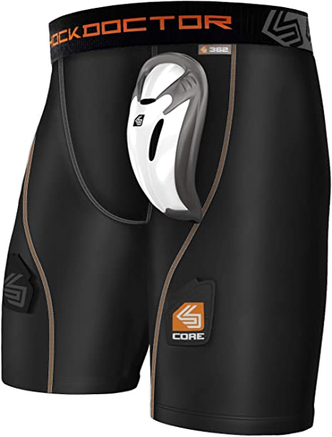 Shock Doctor Core Supporter with BioFlex Cup Large Waist 34-36 Cup Size Large
