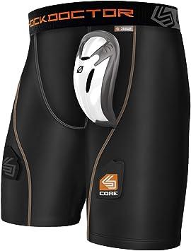 Ni/ños Shock Doctor Ultra Pro Pantalones Cortos de Compression con Carbon Flex Cup