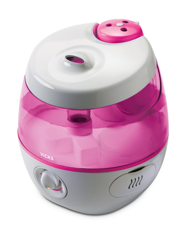 Vicks Sweet Dreams Cool Mist Humidifier, Pink