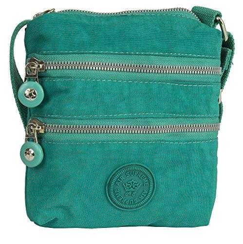 Style Size Unisex Cross Body Shop Bag Turquoise Small Messenger 1 Handbag Shoulder Fabric Lightweight Big Pq7xfAnw