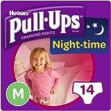 Huggies Pull Ups Night Time Potty Size Medium Training Pants Girls, 10 to 18 kg