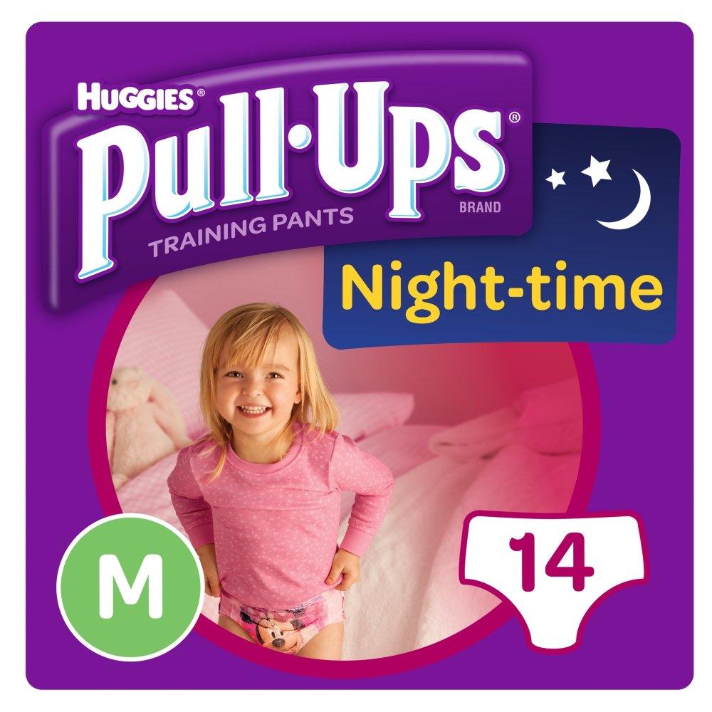 Huggies Pull Ups Night Time Potty Size Medium Training Pants Girls, 10 to 18 kg Kimberly-Clark Ltd 109159251