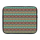 XINSHOU Floral And Geometric Ethnic Tribal Cultural Motif Pattern Print Decorative Laptop Sleeve Case Bag Cover For 13-15 Inch Notebook Computer 15 Inch