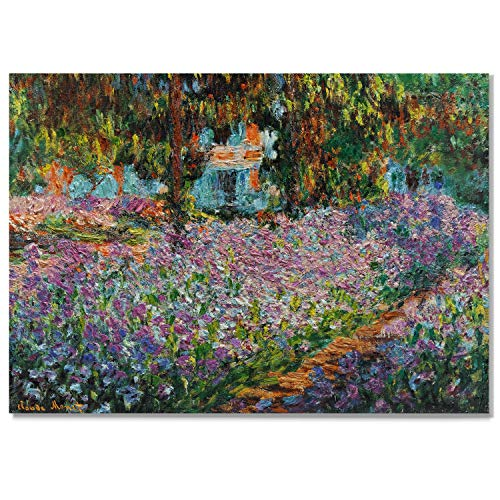 Monet Wall Art Collection Irises in Monet's Garden, 1900 03 Canvas Prints Wrapped Gallery Wall Art | Ready to Hang 30X40, 655MONET ()