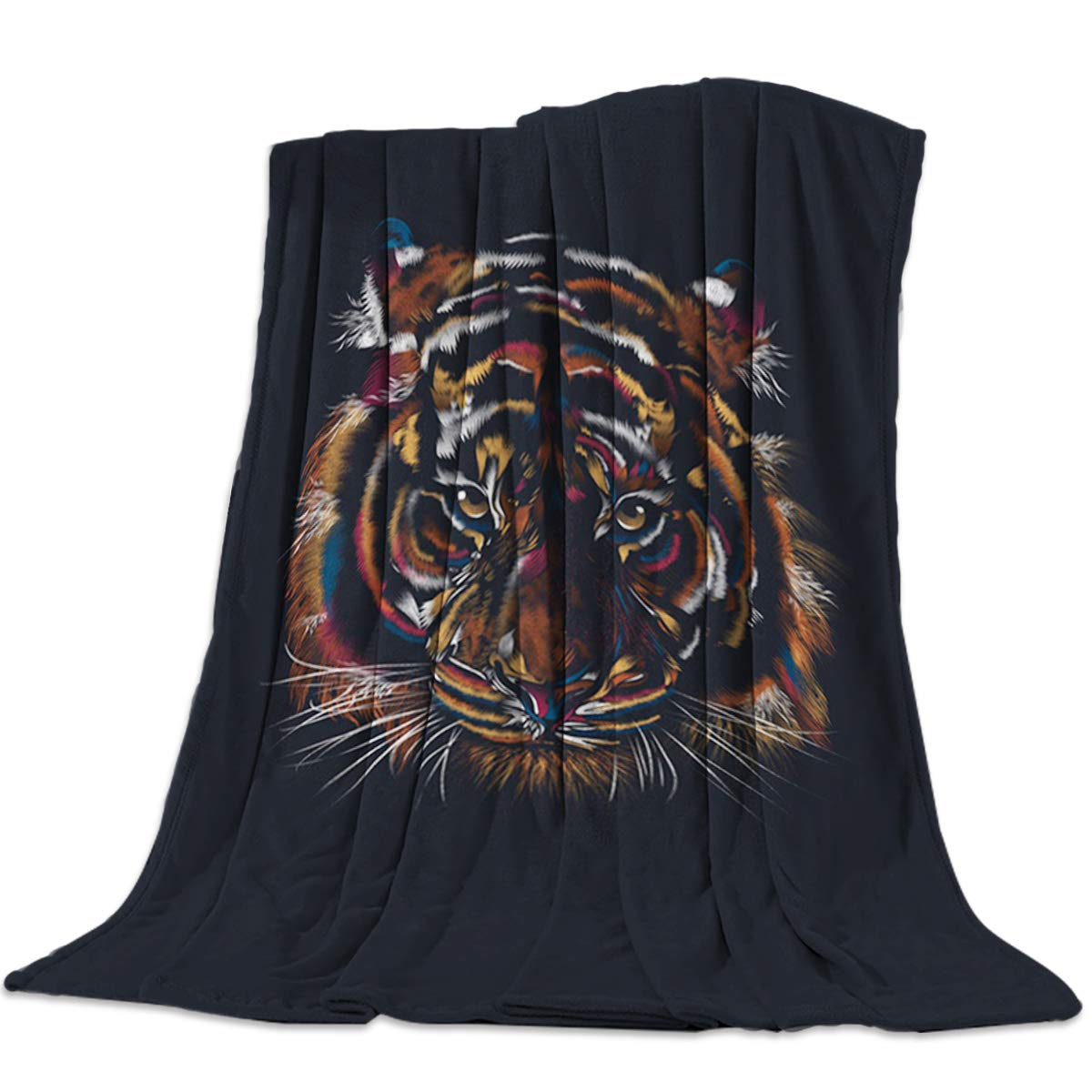 Tiger 2658lyag8123 49x79inch=125x200cm YEHO Art Gallery Flannel Fleece Bed Blanket Soft Kids ThrowBlankets for Girls Boys,Wood Grain Pattern with Flower,Comfortable Blankets for Bedroom Living Room Sofa Couch,49x59inch