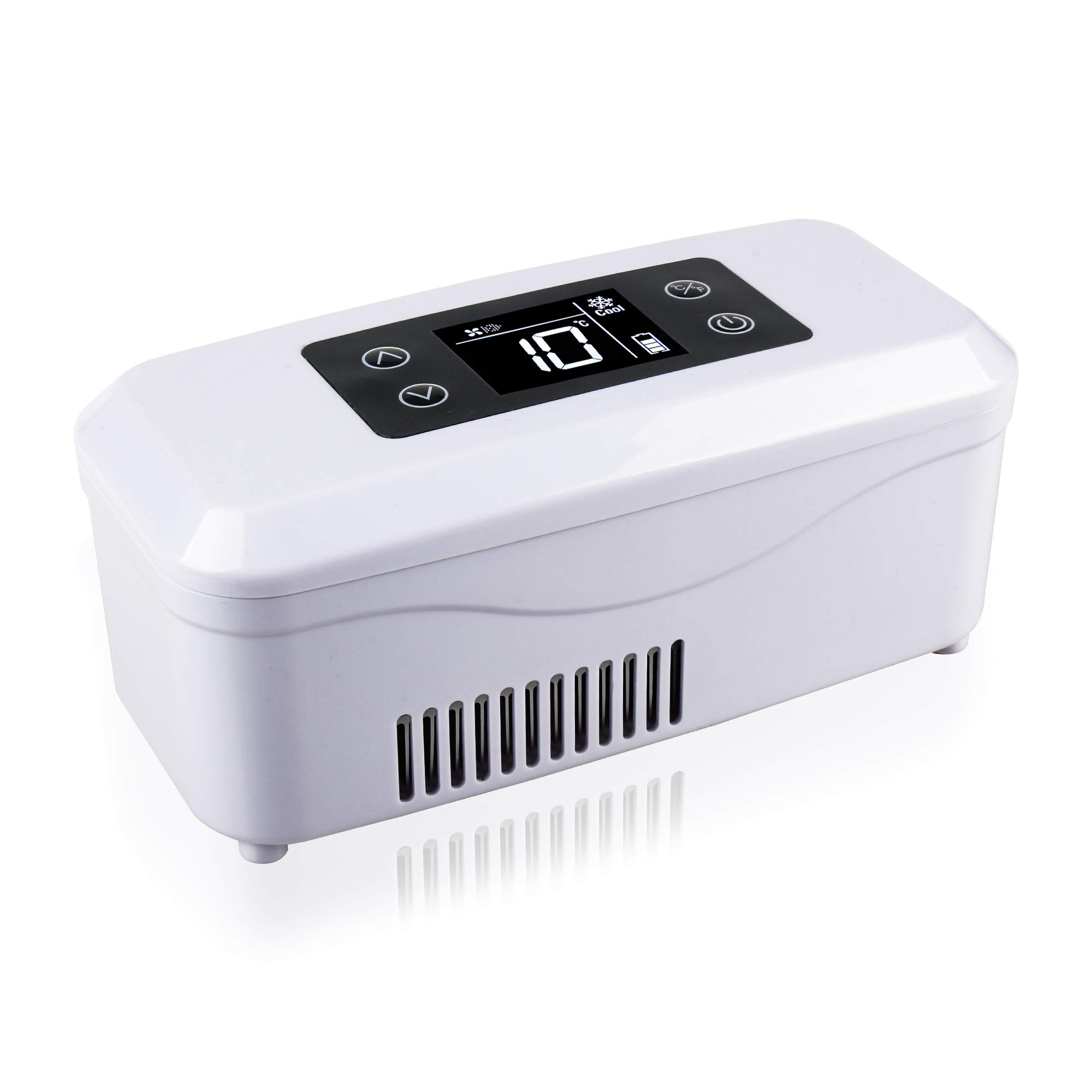 REAQER Portable Insulin Cooler Case 2-18°C Drug Refrigerated Reefer Box