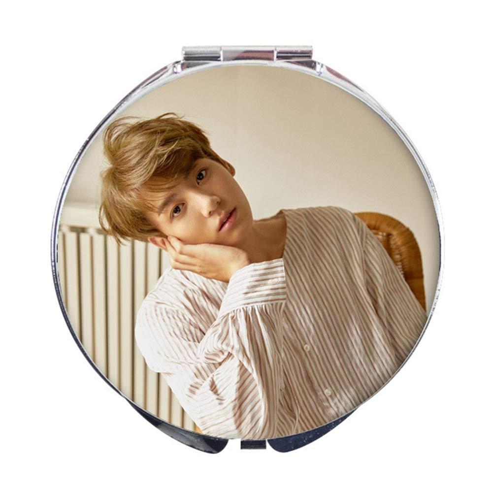 Bestomrogh KPOP BTS LOVE YOURSELF Individuel/Collectif Miroir de Maquillage Pliable Le Cadeau Parfait pour les Fans(BTS1)